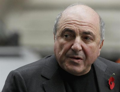 Russian oligarch Boris Berezovsky arrives at a division of the High Court in central London November 7, 2011. REUTERS/Andrew Winning