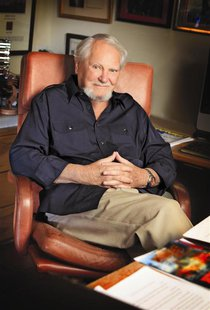 Author Clive Cussler is shown in a 2012 handout photo taken at his home in Paradise Valley, Arizona. REUTERS/photosbyleanna/Handout