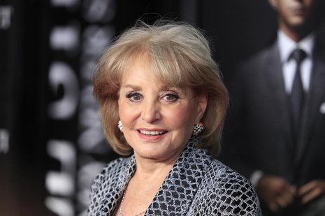 "Television personality Barbara Walters arrives for the premiere of the film ""Wall Street: Money Never Sleeps"" in New York September 20, 2010"