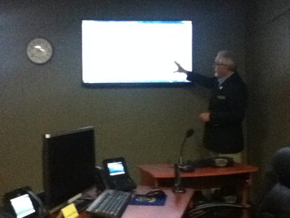 Marathon County Emergency Management Director Steve Hagman giving a tour of the new permanent Emergency Operations Center