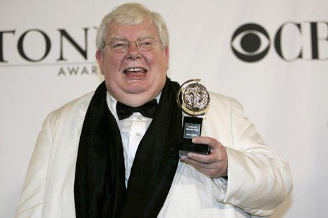 Richard Griffiths poses with his award for Best Performance by a Leading Actor in a Play for The History Boys at the 60th annual Tony Awards