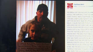 Matt Bent's Facebook post has been shared more than 400,000 times since Tuesday. (courtesy of FOX 11).`