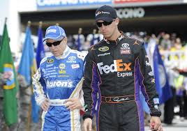 Mark Martin (left) Denny Hamlin (right0
