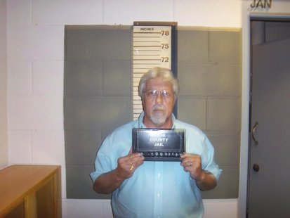 Knox County, Maine, Correctional Facility booking photograph shows Mark W. Strong Sr., 56, of Thomaston, Maine, arrested for Promotion of Pr