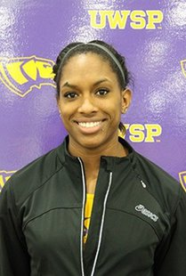 UW-Stevens Point sprinter Jasmine Haines