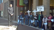 Preachers and Protesters gather on Good Friday to pitch for immigration reform.