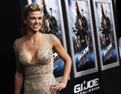 "Cast member Adrianne Palicki poses at the premiere of ""G.I. Joe: Retaliation"" in Hollywood, California March 28, 2013. The movie opens in th"