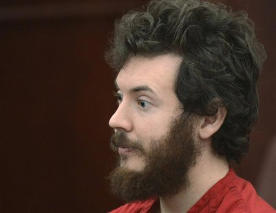 Accused Aurora theater gunman James Holmes listens during his arraignment in Centennial, Colorado March 12, 2013. REUTERS/R.J. Sangosti/Pool