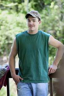 "Shain Gandee, who starred in the MTV reality series ""Buckwild"" set in West Virginia, is shown in this undated publicity photograph released"