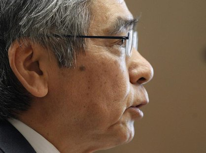 Bank of Japan's (BOJ) Governor Haruhiko Kuroda attends the upper house Financial Affairs committee of the Parliament in Tokyo March 28, 2013