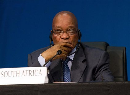 South Africa's President Jacob Zuma listens during closing remarks at the 5th BRICS Summit in Durban, March 27, 2013. REUTERS/Rogan Ward