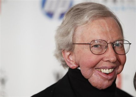 Film critic Roger Ebert arrives to attend the Webby Awards in New York in this file photo taken June 14, 2010. Ebert announced Tuesday that