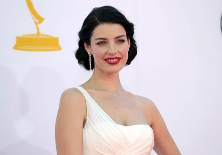 "Actress Jessica Pare, from the television drama series ""Mad Men,"" arrives at the 64th Primetime Emmy Awards in Los Angeles, September 23, 20"