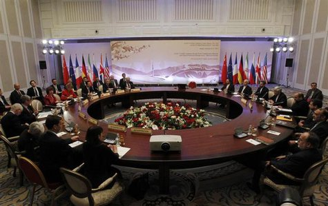 Top officials from the U.S., France, Germany, Britain, China, Russia and Iran take part in talks on Iran's nuclear programme in Almaty Febru