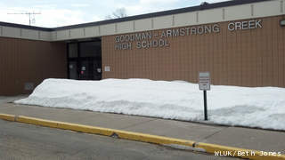 Goodman-Armstrong Creek High School is seen, April 4, 2013. (courtesy of FOX 11).