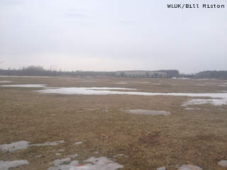 Site of a proposed plastic recycling plant on Oneida Nation property, as seen April 4, 2013. (courtesy of FOX 11).