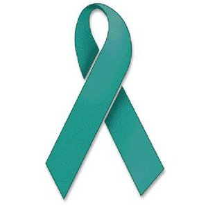 Teal ribbon for sexual assault awareness