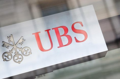 The logo of Swiss bank UBS is seen on a building in Zurich, February 13, 2013. REUTERS/Michael Buholzer