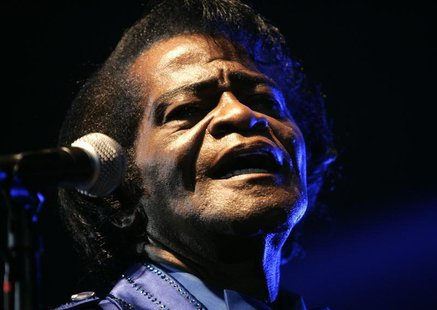 U.S. singer James Brown performs in Zagreb November 5, 2006. REUTERS/Nikola Solic