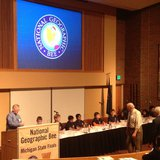 The National Geographic Bee was held at Western Michigan University's Fetzer Center on Friday.