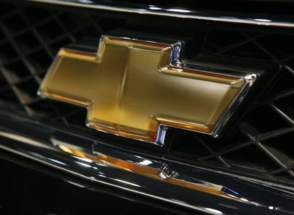 The grill emblem on the 2007 Chevrolet Impala during the Chicago Auto Show, February 7, 2007. REUTERS/John Gress