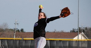 Michelle Jones, UWSP Softball.  Picture courtesy UWSP Athletic Dept.