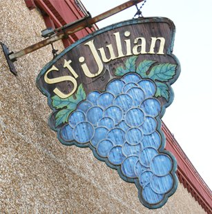St. Julian Winery sign in Paw Paw