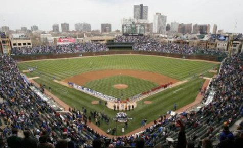 Wrigley Field on opening day (Reuters)
