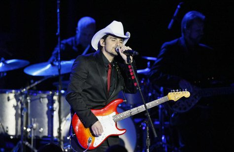 Country music singer Brad Paisley performs at the Commander in Chief's Ball during presidential inauguration ceremonies in Washington, Janua