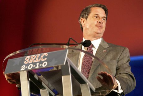 US Representative David Vitter of Louisiana speaks at the 2010 Southern Republican Leadership Conference in New Orleans, Louisiana April 10,
