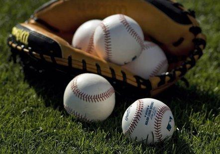 baseballs & glove