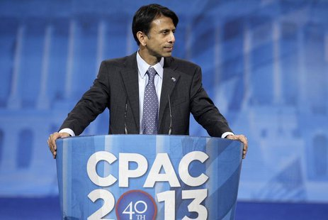 Louisiana Governor Bobby Jindal (R-LA) makes remarks to the Conservative Political Action Conference (CPAC) in National Harbor, Maryland, Ma