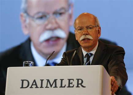 Daimler CEO Dieter Zetsche gives a speech at a Daimler annual shareholder meeting in Berlin April 10, 2013. REUTERS/Fabrizio Bensch