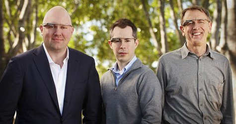 Marc Andreessen of Andreessen Horowitz (L to R), Bill Maris of Google Ventures and John Doerr of Kleiner, Perkins Caufield & Byers are shown