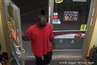 Grand Chute police are working to identify a person of interest in a convenience store robbery on Sunday, April 7, 2013.