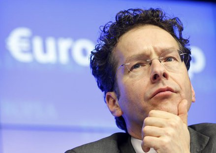 Eurogroup President Jeroen Dijsselbloem attends a news conference at the end of a Eurogroup meeting at the European Council building in Brus
