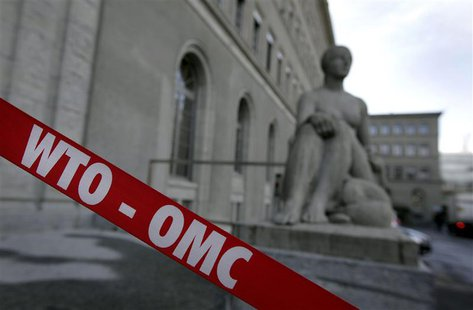 The World Trade Organization (WTO) headquarters is pictured in Geneva April 10, 2013. REUTERS/Denis Balibouse