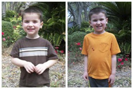 A combination photo shows Chase Hakken (L), and Cole Hakken brothers in Hillsborough County Sheriff's Office photos released on April 9, 201