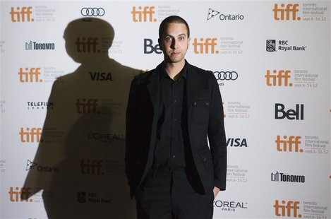 "Director and writer Brandon Cronenberg arrives on the red carpet for the gala presentation of the film ""Antiviral"" at the 37th Toronto Inter"