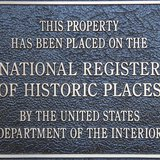 Historic Places National Register plaque (courtesy of wikicommons)