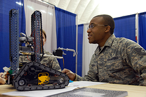 Wisconsin Air National Guard working with competitors at the SkillsUSA Competition in Wisconsin Dells 4/11/13