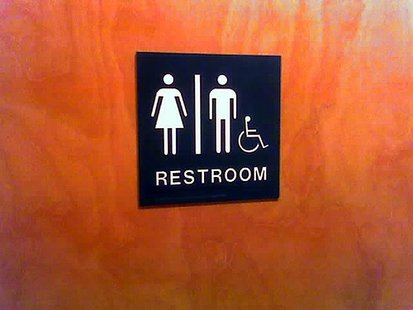 Restroom sign - Flickr photo by Jess Johnson