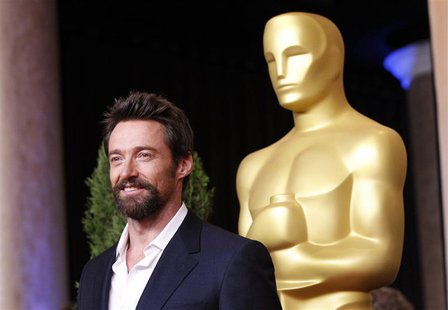 "Hugh Jackman, nominated for best actor for his role in ""Les Miserables"", arrives at the 85th Academy Awards nominees luncheon in Beverly Hil"