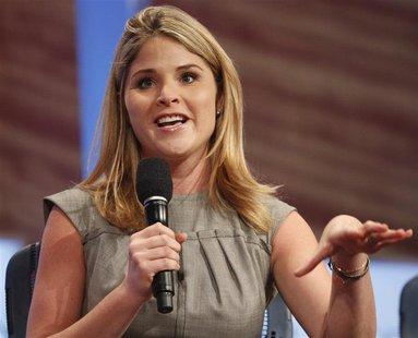 Jenna Bush Hager, daughter of former U.S. President George W. Bush, participates in a panel discussion at the Clinton Global Initiative in N