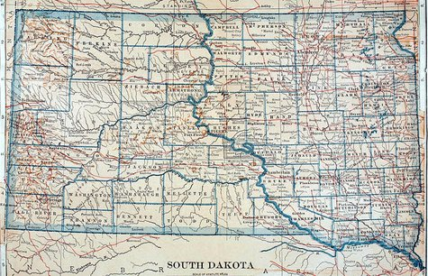 South Dakota map - KELO file photo