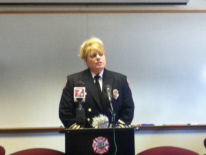 Stevens Point Fire Chief Tracey Kujawa