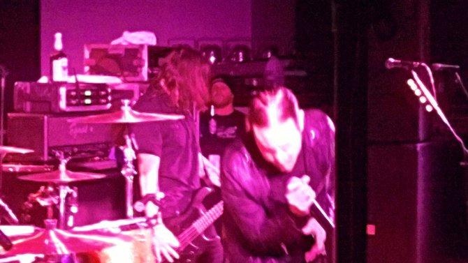 L-R:  Wayland's Dean, random dude backstage & Mitch.