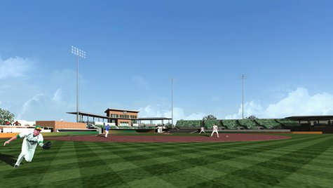 Artist rendering of Athletic Park improvements