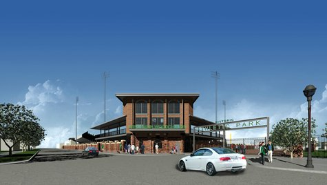 Artist Rendering of Athletic Park entrance