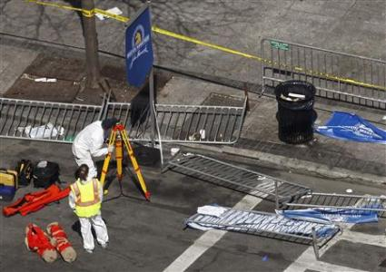 Boston Marathon crime scene